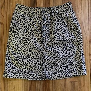 Ultra High Rise Leopard Print Skirt